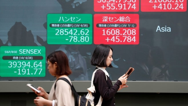 Global stocks are mixed on Monday, pausing the rally after negative Chinese economic data