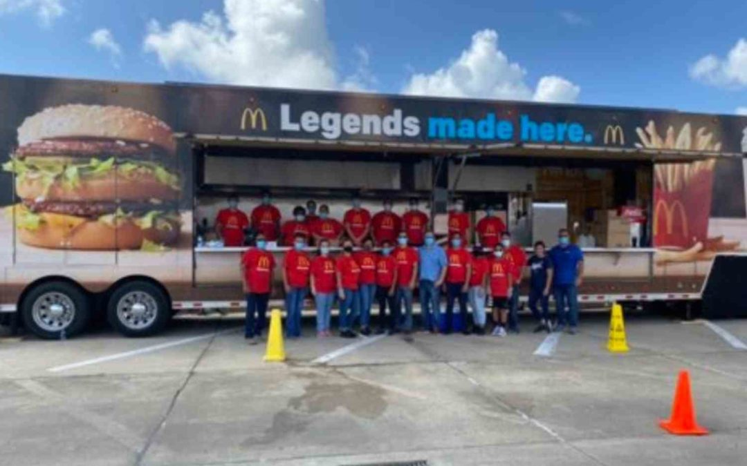 McDonald's franchise owner gave out tons of food