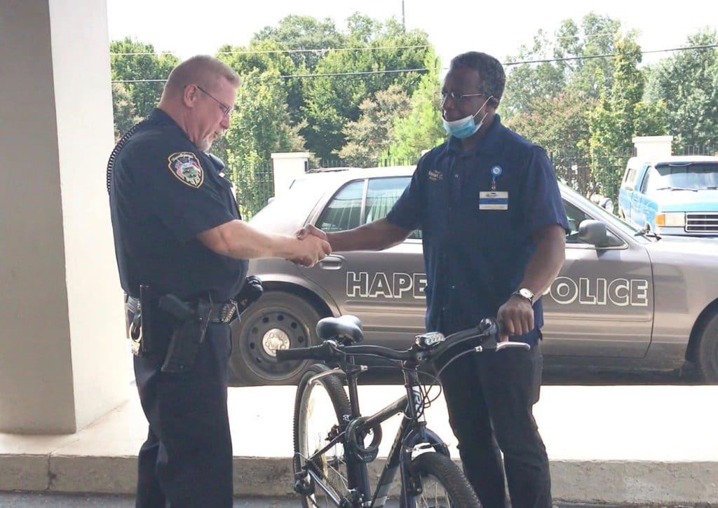 Officer Dennis Rowe and Craig Magby